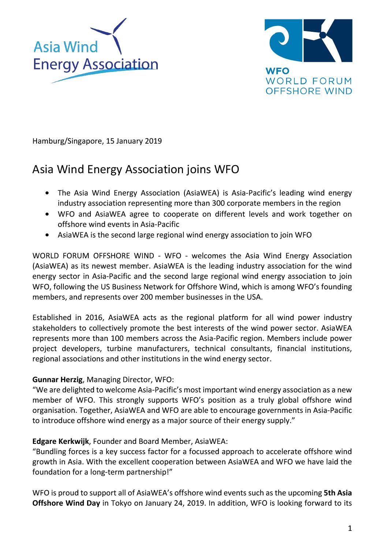 WFO – Press release 15/01/2019