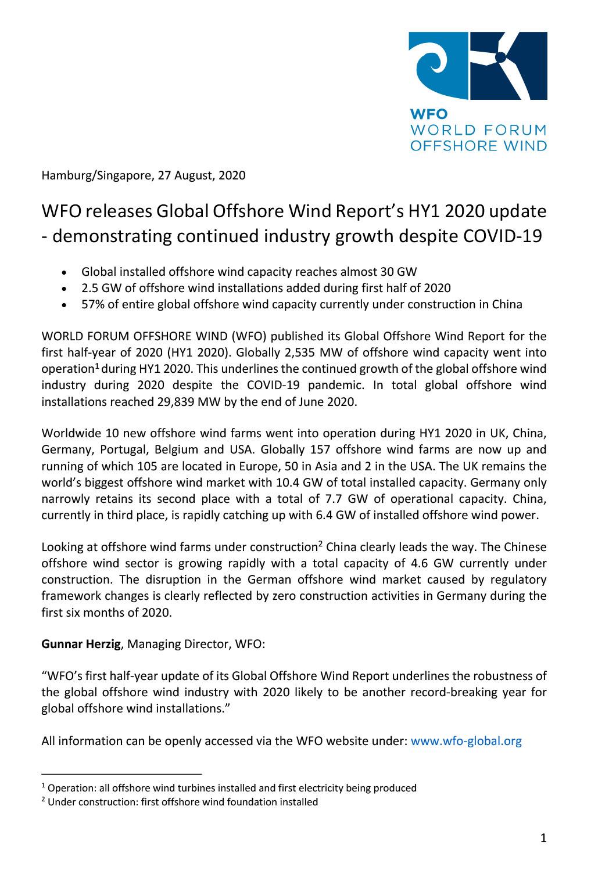 WFO – Press release 27/08/2020